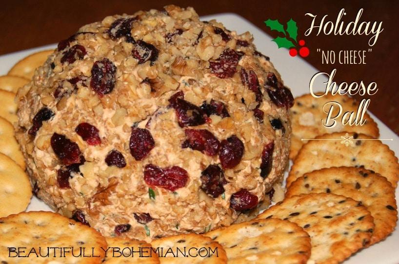 Holiday No-Cheese Cheese Ball