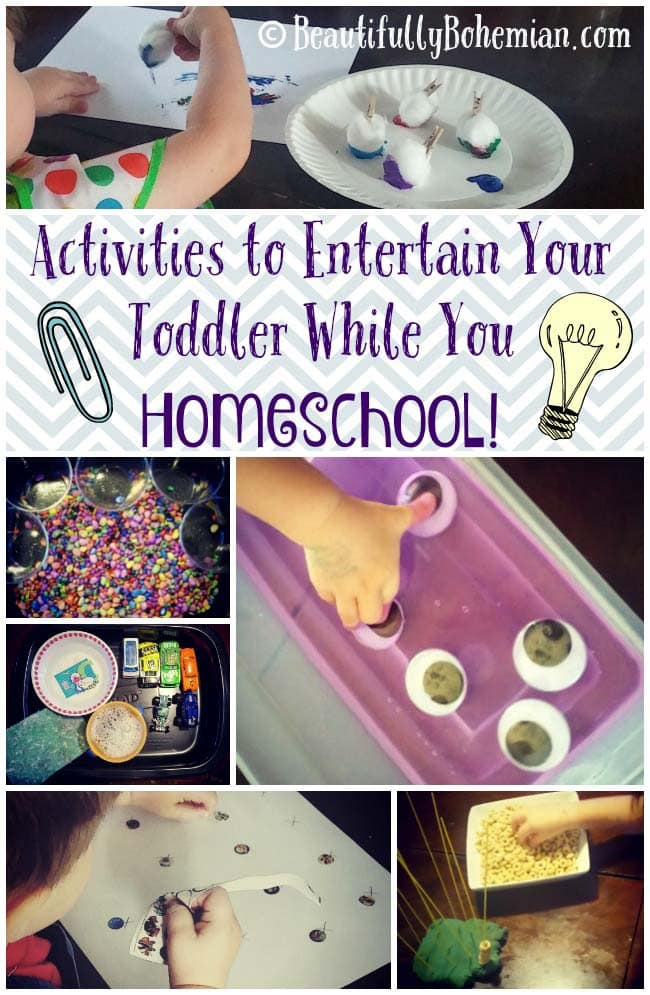 Activities to Entertain Your Toddler While You Homeschool!