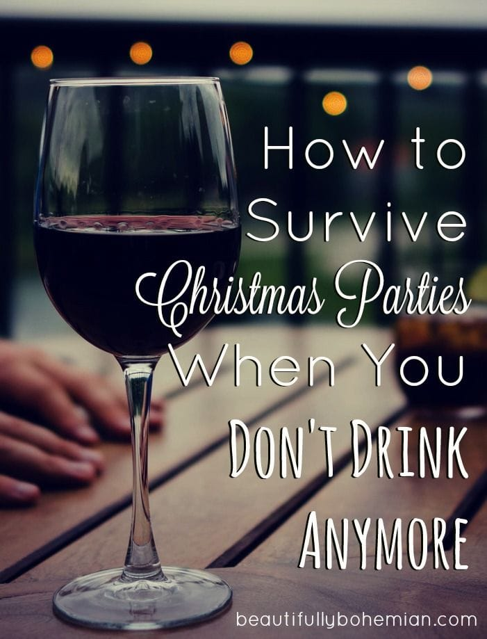How to Survive Christmas Parties When You Don't Drink Anymore