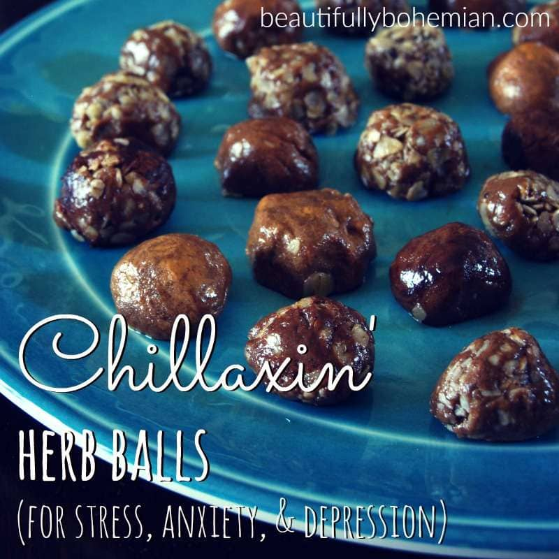 herb balls recipe for stress, anxiety, and depression!