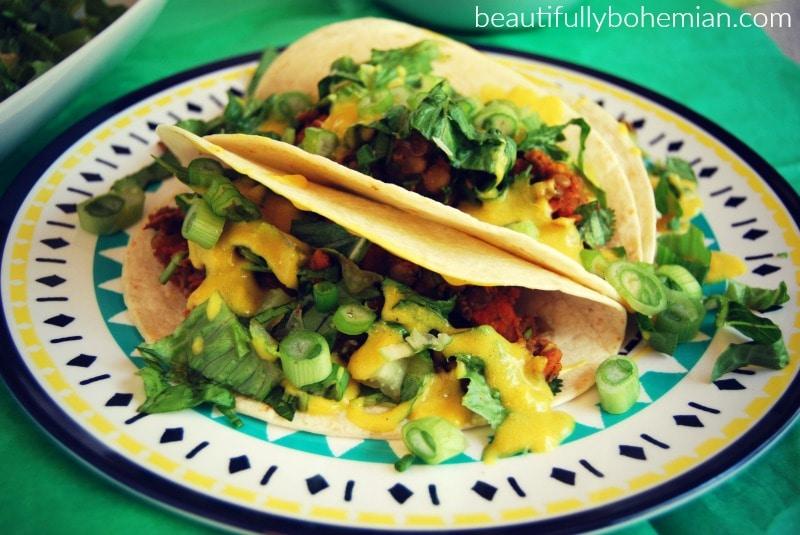 lentil & Sweet potato soft taco