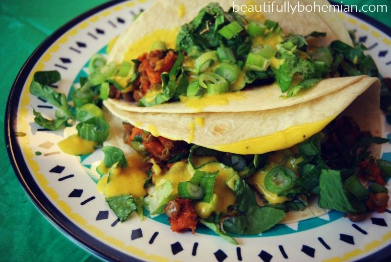 low histamine vegan soft tacos!