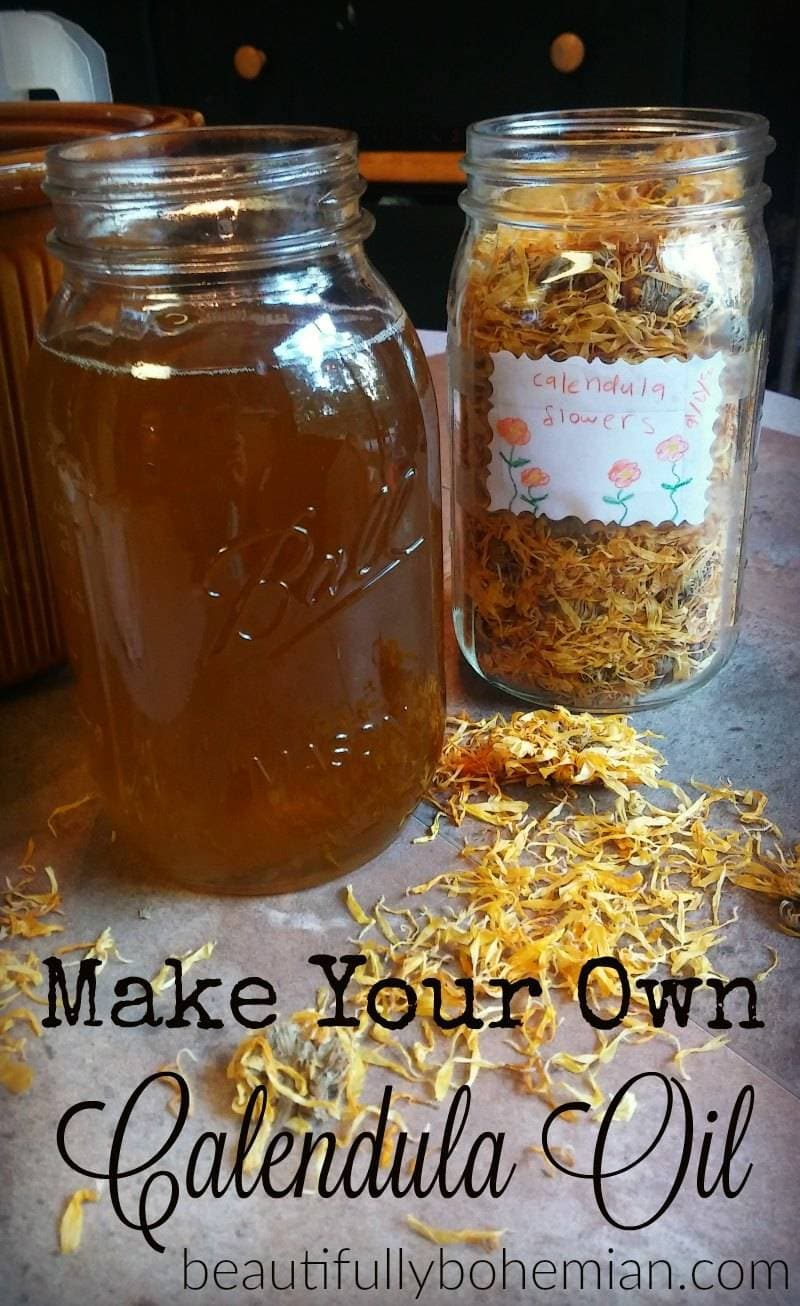 make your own calendula oil