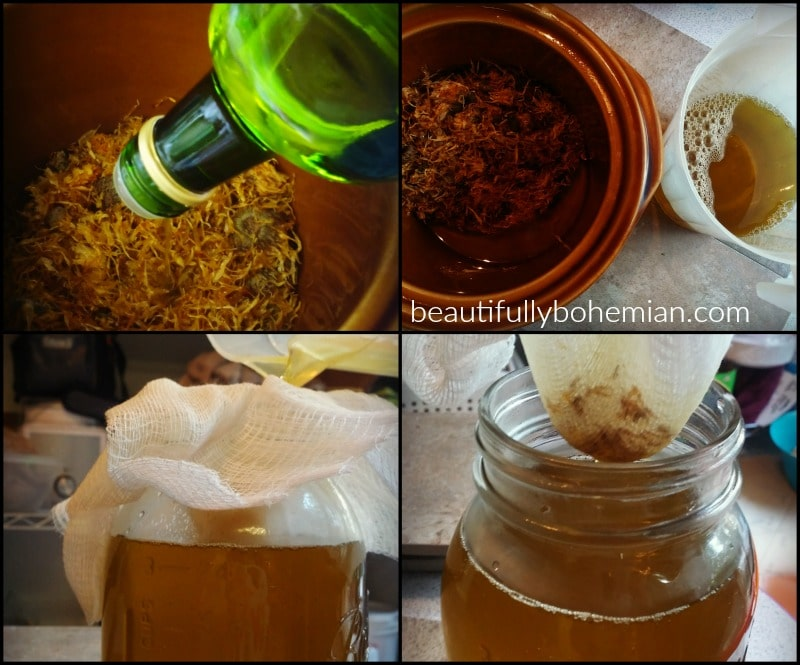 Making your own calendula oil is SUPER EASY!