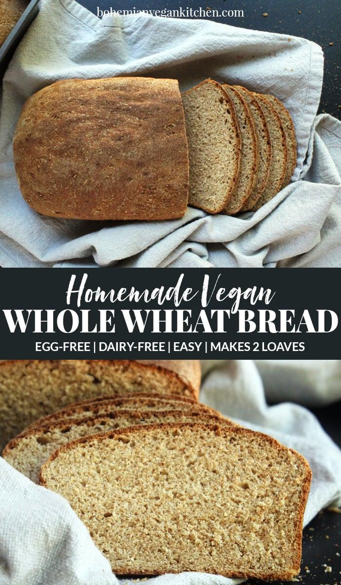 pinnacle image of homemade vegan bread