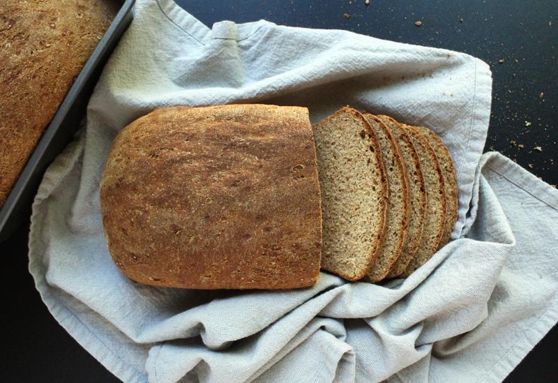 picture of homemade vegan bread freshly sliced