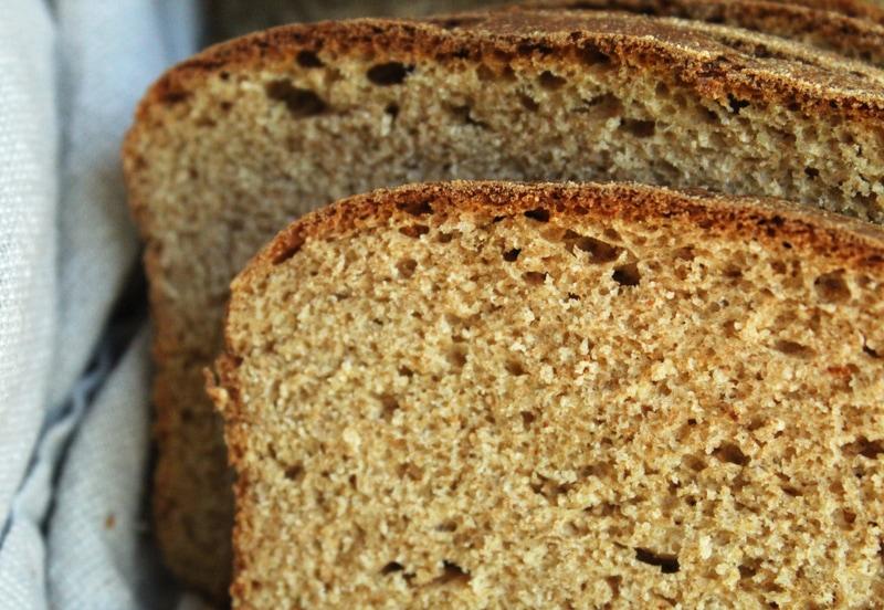 super close up picture of homemade vegan bread