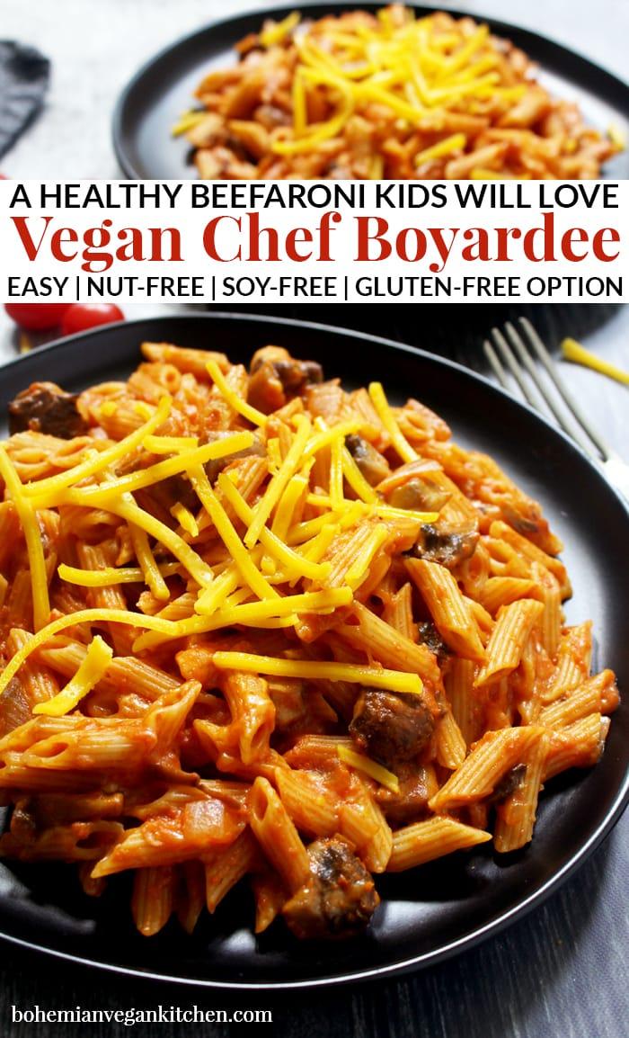 pinnacle image of vegan chef boyardee.