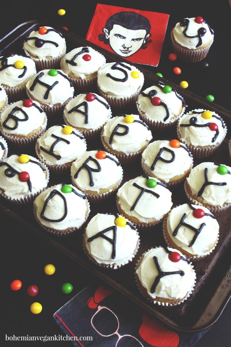 How to Make Fantastic Vegan Stranger Things Cupcakes