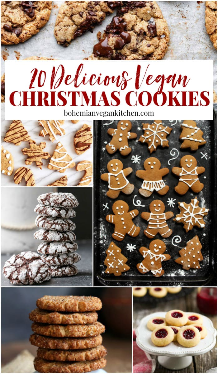 Ever wonder why we leave cookies out for Santa? Does it have a deeper meaning, or is it just the modern way children lay sugar sacrifices in exchange for Amazon packages? I'm sharing the answers to this tradition + a roundup of 20 vegan cookie recipes to make your holiday delicious. #veganchristmascookies #veganchristmascookiesrecipes #veganchristmasrecipes #veganchristmasdesserts #veganchristmasbaking #bohemianvegankitchen