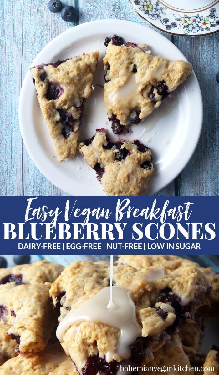 pinnacle image of vegan blueberry scones