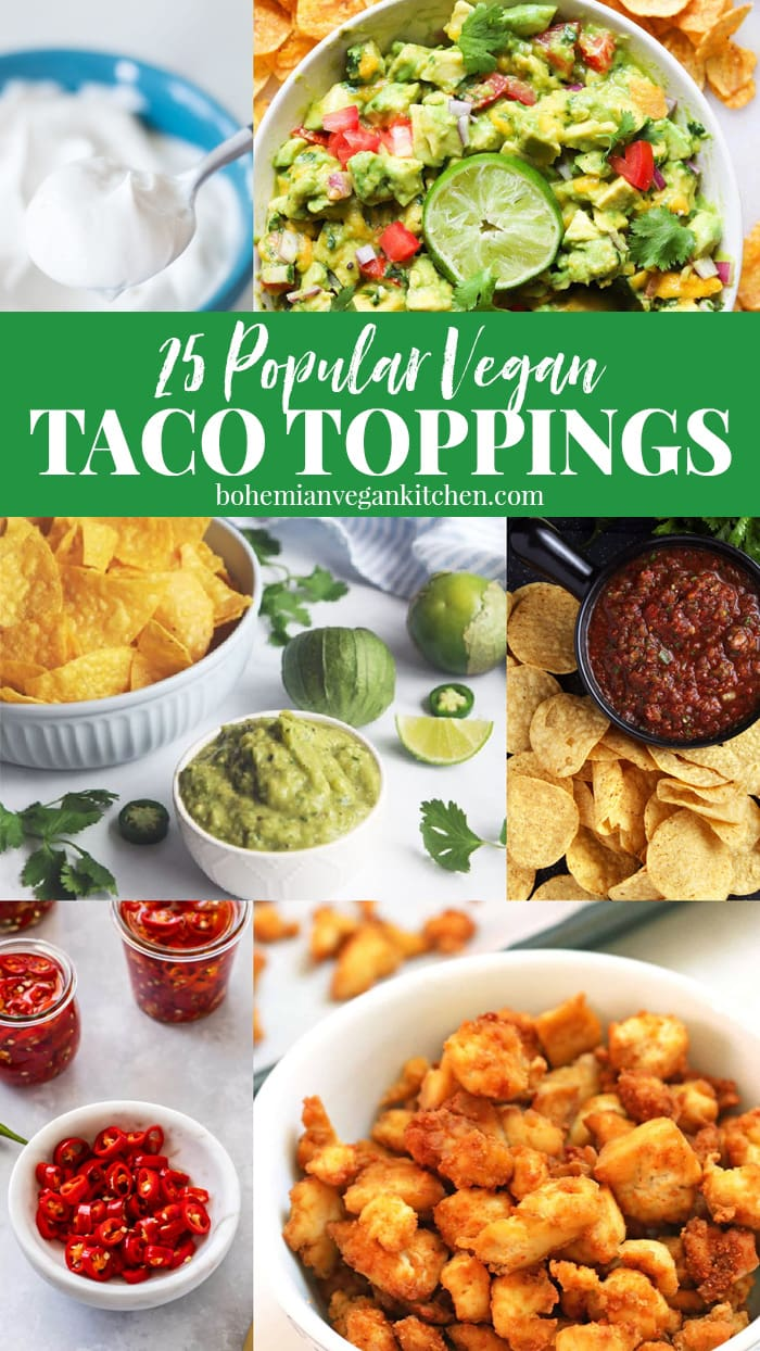 Pinterest image of taco toppings.