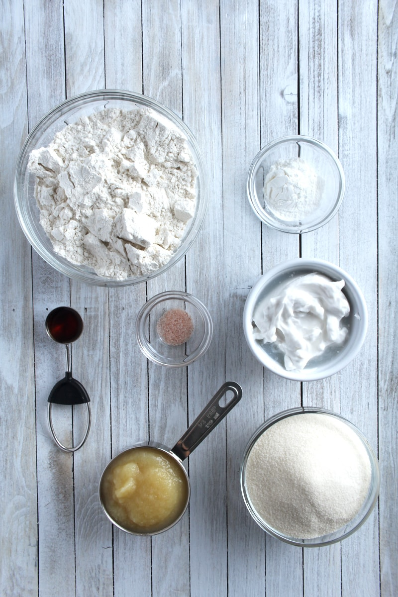 picture of the ingredients needed for cupcakes.