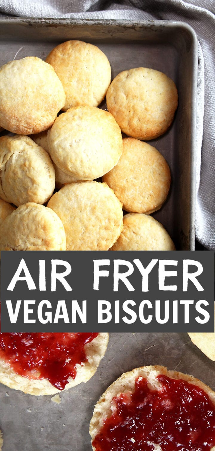 pinnable image of this vegan biscuits recipe