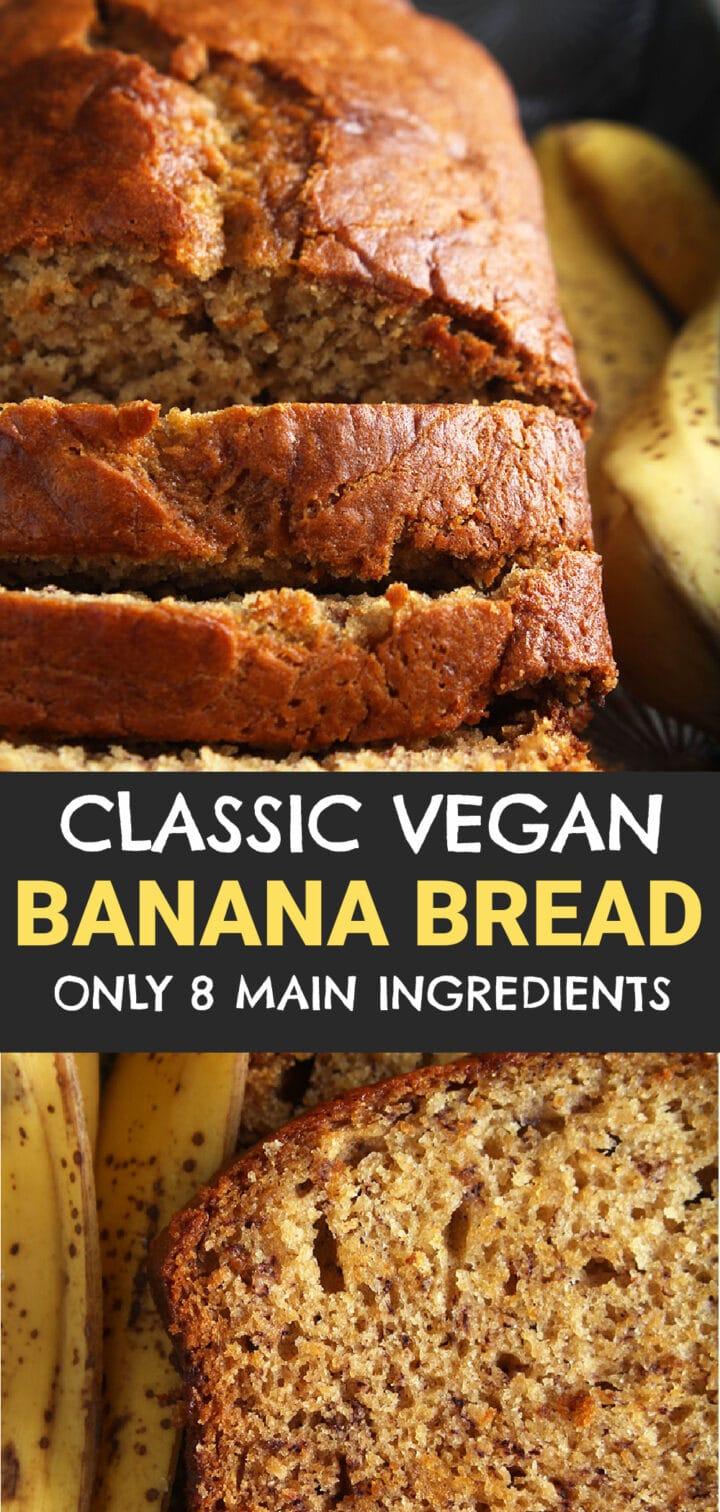 pinnable image of dairy free banana bread