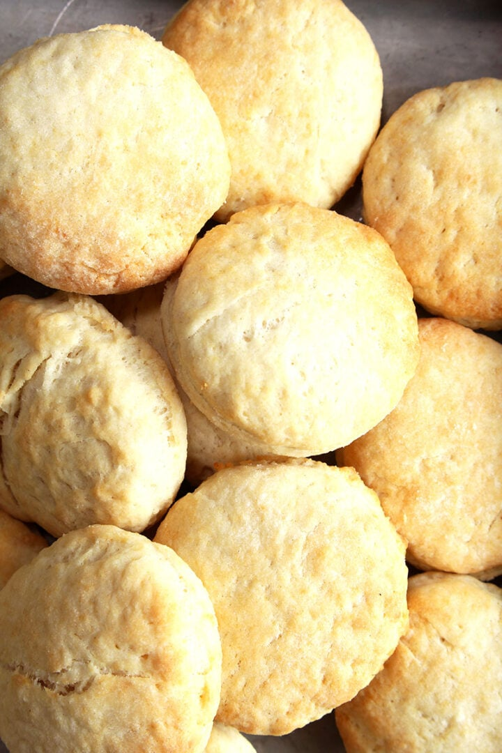 close up of vegan biscuits recipe