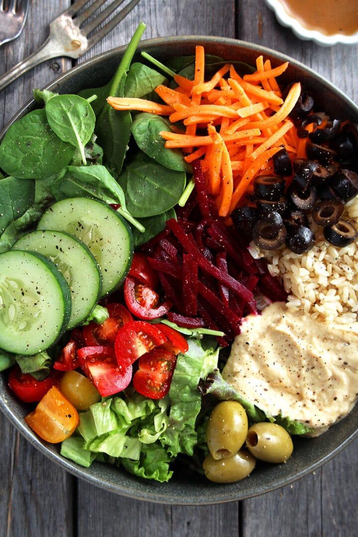 picture of vegan greek bowls