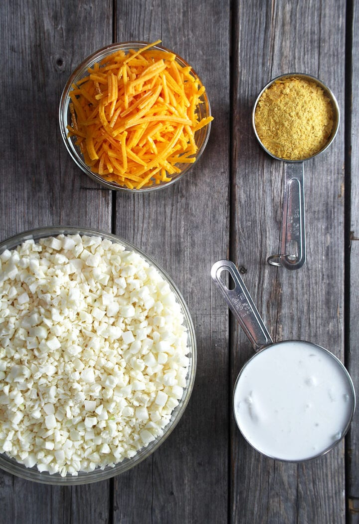 ingredients needed for cauliflower grits
