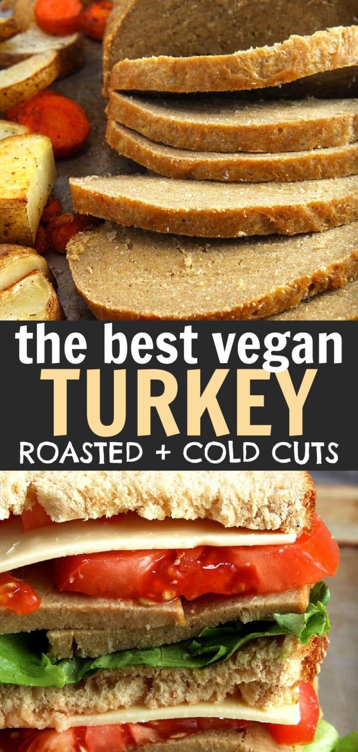 pinnable image of vegan turkey roast