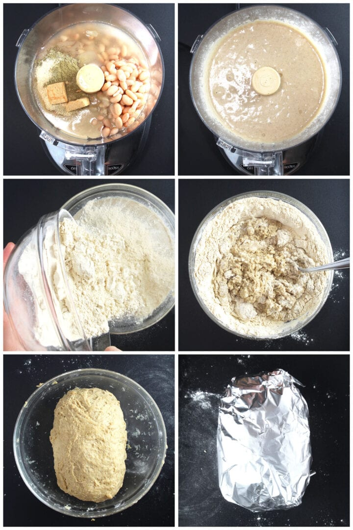 step by step process for making vegan turkey